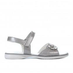 Children sandals 524 patent gray
