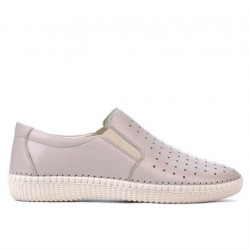 Women loafers, moccasins / adolescenti 689 beige