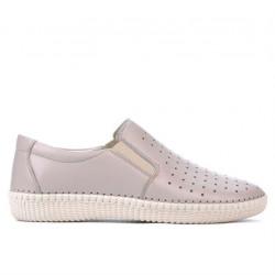 Women loafers, moccasins / adolescenti 689 beige