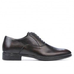Men stylish, elegant shoes 876 a brown