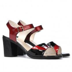 Women sandals 5042 bordo+black