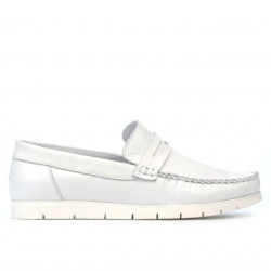 Women loafers, moccasins 692 white