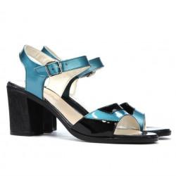 Women sandals 5042 bleu+black