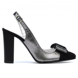 Women sandals 1267 black antilopa combined