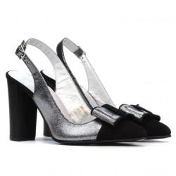Sandale dama 1267 negru antilopa combinat