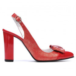 Women sandals 1267 patent red combined