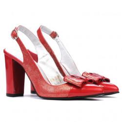 Sandale dama 1267 lac rosu combinat