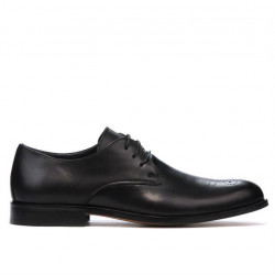 Men stylish, elegant shoes 878 black