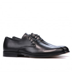 Men stylish, elegant shoes 878 black