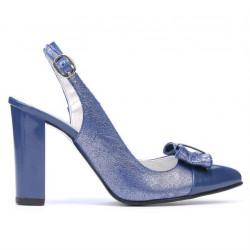 Women sandals 1267 patent blue combined