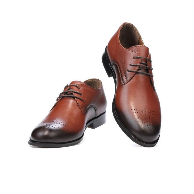 calitate superioară oferta specifica vânzare la cald online Pantofi eleganti barbati 878 a coniac. Piele naturala.