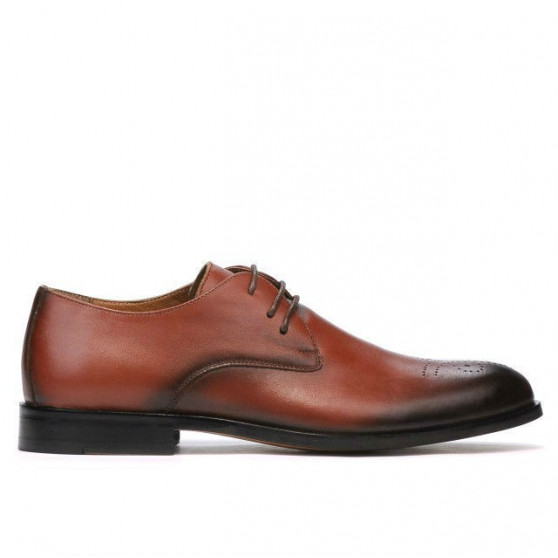 preț uimitor sosesc o selecție uriașă de Men stylish, elegant shoes 878 a cognac. Natural leather. - Marelbo