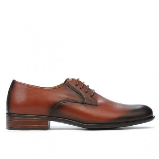 Men stylish, elegant shoes 837 a cognac