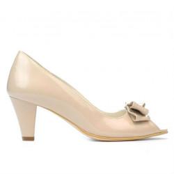 Women sandals 1255 patent ivory