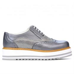 Pantofi casual dama 683-1 gri sidef combinat