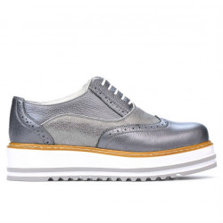 Women casual shoes 683-1 gray pearl combined