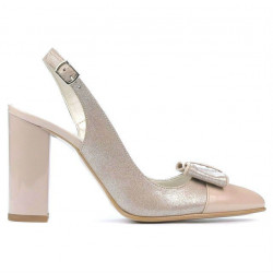 Women sandals 1267 patent ivory combined