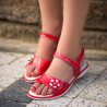 Sandale copii 524 lac rosu corai lifestyle