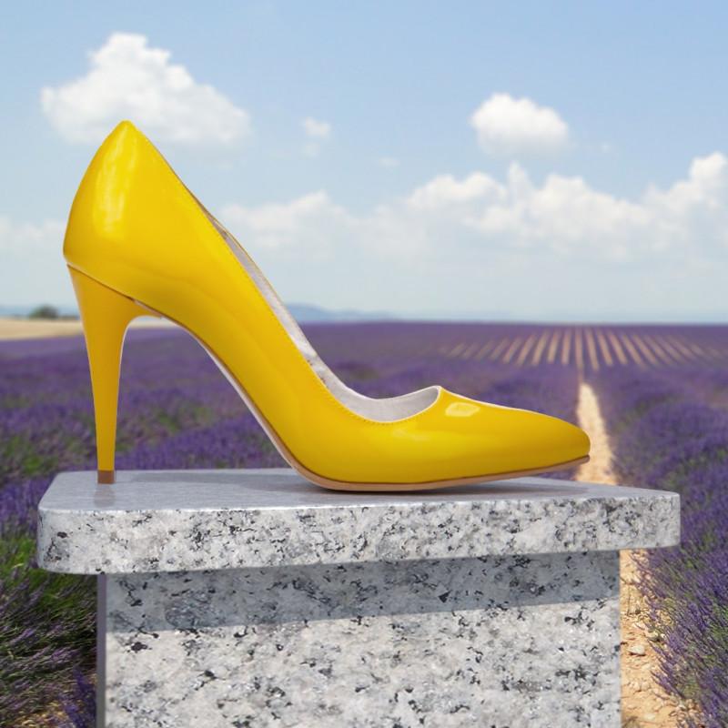 Pantofi eleganti dama 1246 lac galben lifestyle