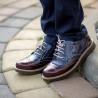 Pantofi copii 154 lac bordo combinat