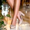 Sandale dama 1267 lac ivoriu combinat lifestyle