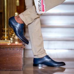 Men stylish, elegant shoes 878 a indigo