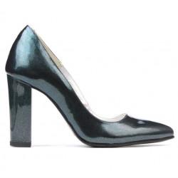 Women stylish, elegant shoes 1261 patent lime pearl