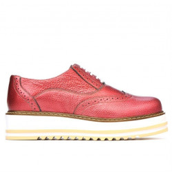 Women casual shoes 683-1 red pearl