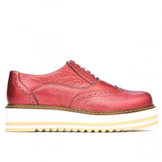 Pantofi casual dama 683-1 rosu sidef