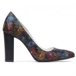Women stylish, elegant shoes 1261 black pastel