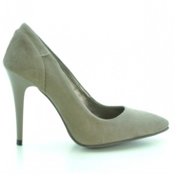 Pantofi eleganti dama 1230 capucino antilopa