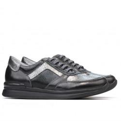 Pantofi sport dama 694 negru combinat