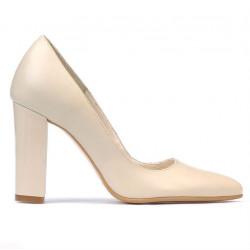 Women stylish, elegant shoes 1261 beige