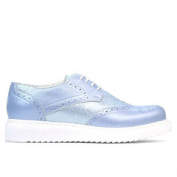 Pantofi casual dama 663-2 bleu sidef combinat