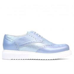 Women casual shoes 663-2 bleu pearl combined