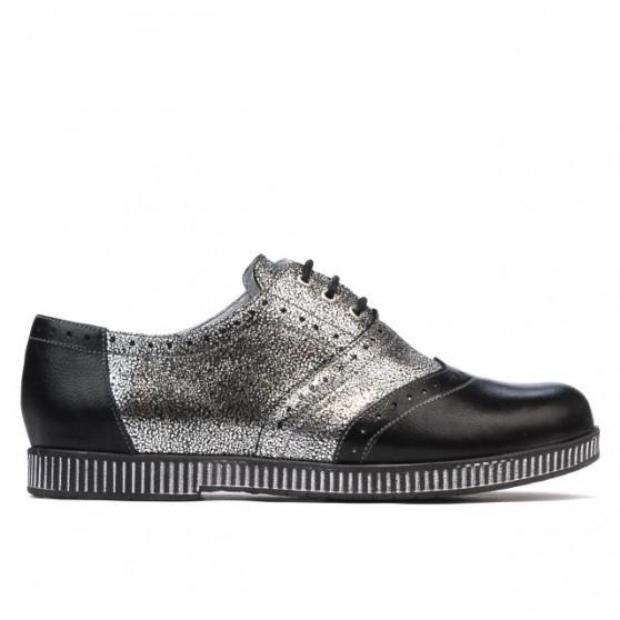 Pantofi casual dama 693 negru combinat