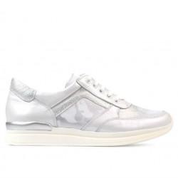 Pantofi sport dama 694 alb sidef combinat