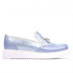 Pantofi casual dama 659-1 bleu sidef combinat