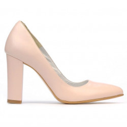 Women stylish, elegant shoes 1261 pudra