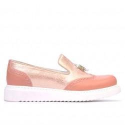 Pantofi casual dama 659-1 rosa combinat