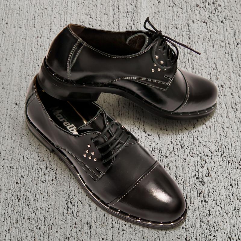 Pantofi casual dama 696 lac negru lifestyle