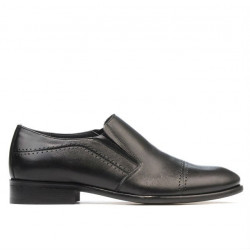 Men stylish, elegant shoes 877 black