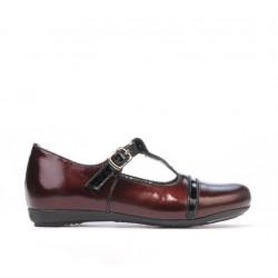 Small children shoes 62c patent bordo+black