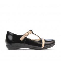Small children shoes 62c patent black+beige