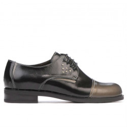 Women casual shoes 696 patent black combined
