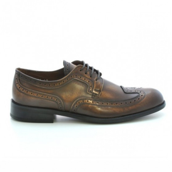 Men stylish, elegant shoes 799 a brown