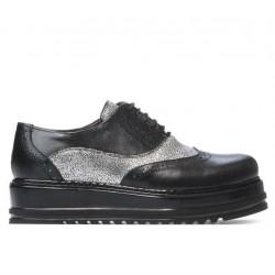 Pantofi casual dama 683-1 negru combinat