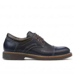 Pantofi eleganti adolescenti 372 indigo+cafe