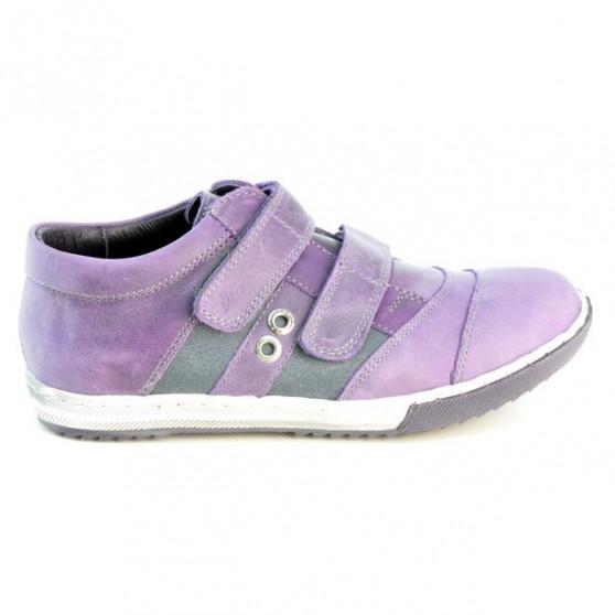 Pantofi copii 134 tuxon mov+gri