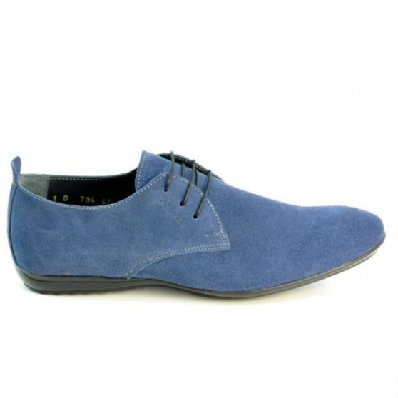 Men casual shoes 794 indigo velour